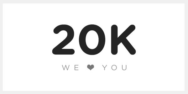 20,000 Giveaway Winners